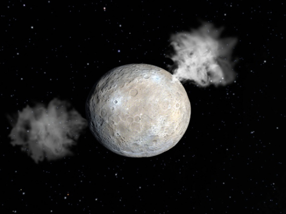ceres blowing off steam
